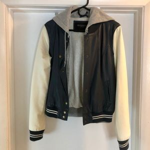 Varsity Faux Leather Jacket
